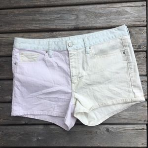 💥5/$25 GAP Pastel Colour Block Slim Shorts